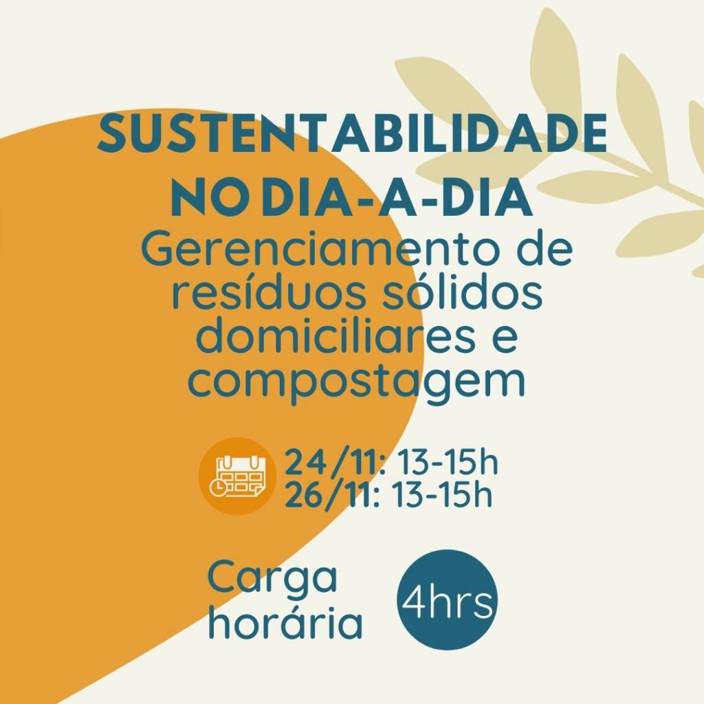 Minicurso: Sustentabilidade no dia-a-dia